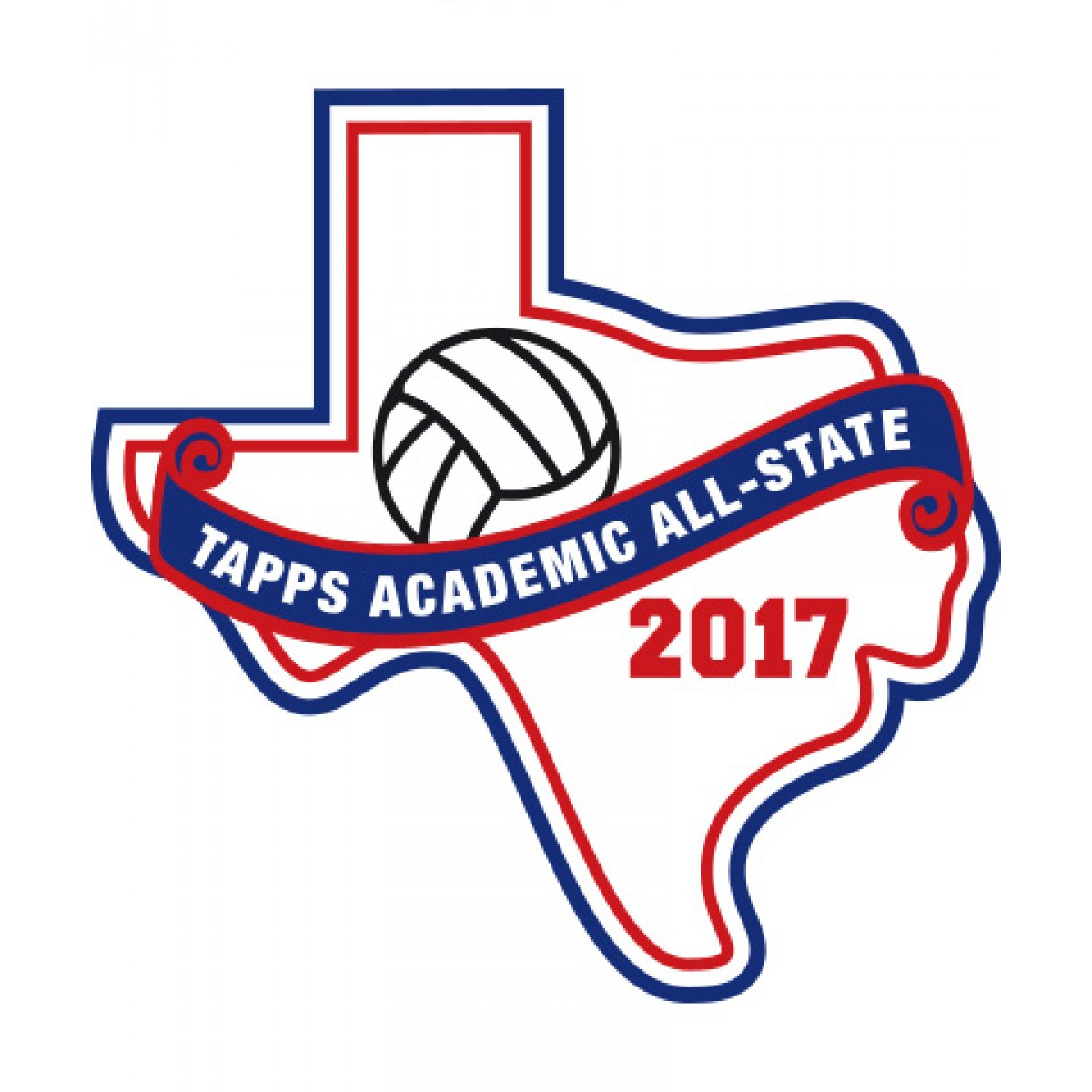 Felt 2017 TAPPS Academic All-State Volleyball Patch