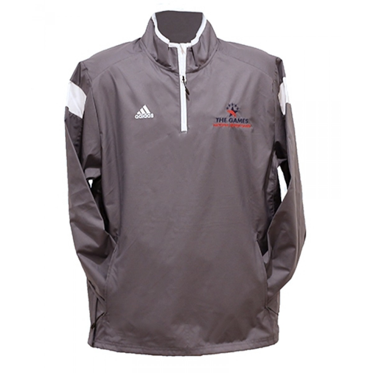 Adidas 1/4 Zip Windbreaker w/ Embroidered Logo