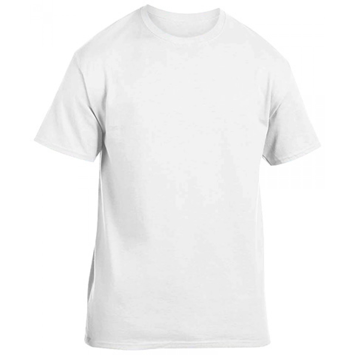Cotton Short Sleeve T-Shirt-White-YS