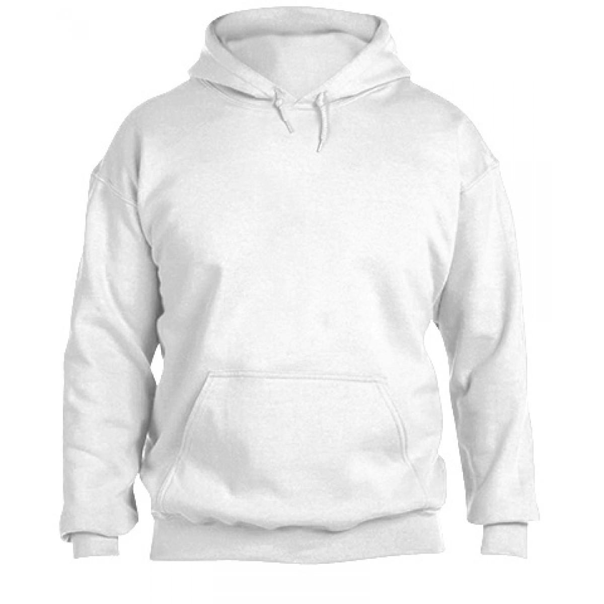 Hooded Sweatshirt  50/50 Heavy Blend-White-YL