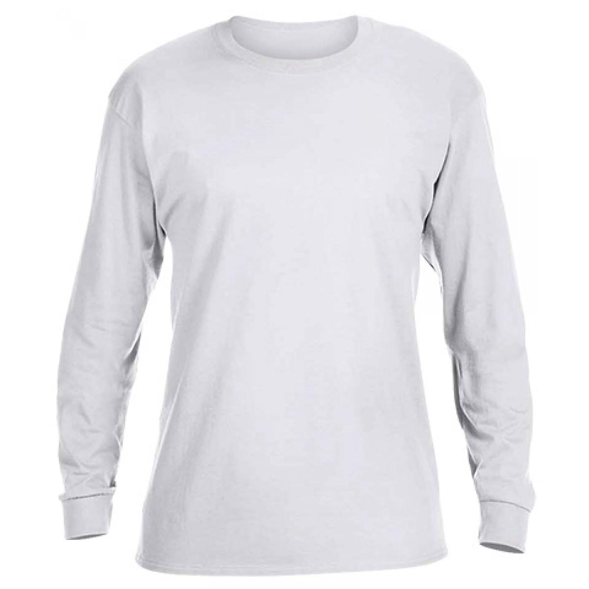 Ultra Cotton Long-Sleeve T-Shirt-White-M