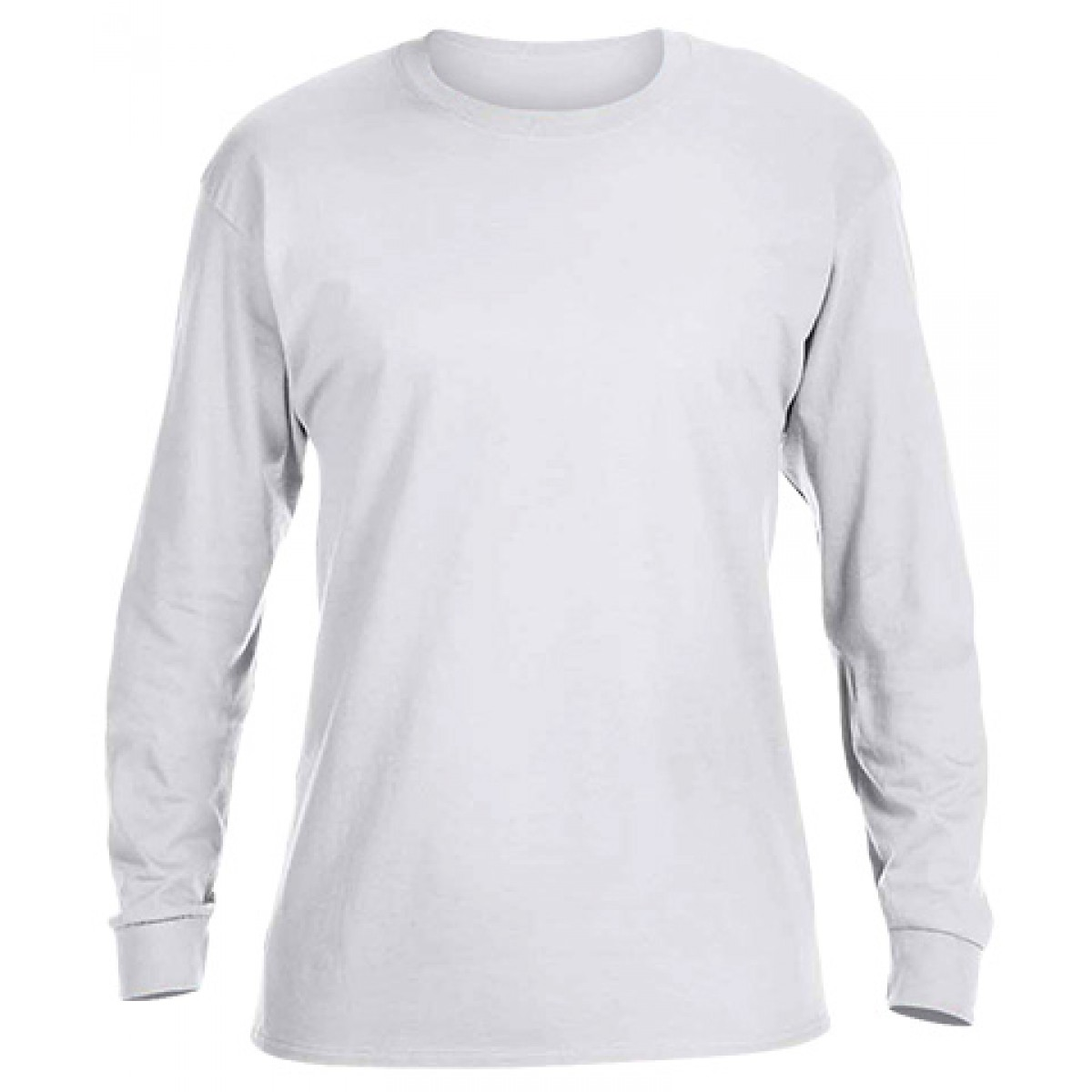 Ultra Cotton Long-Sleeve T-Shirt-White-YL