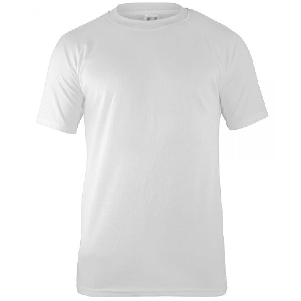 Short Sleeves Mesh Performance T-shirt-White-YL