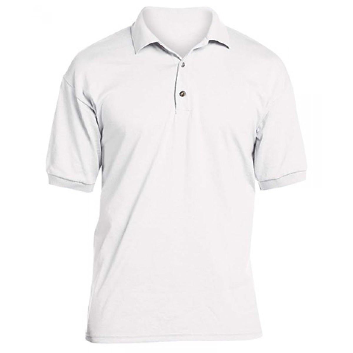 Jersey Polo 50/50 -White-XL