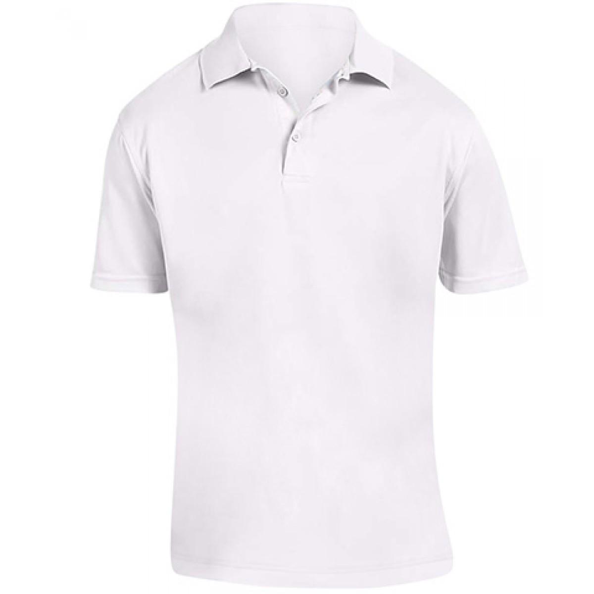 White Polytech Polo 4 oz. -White-L