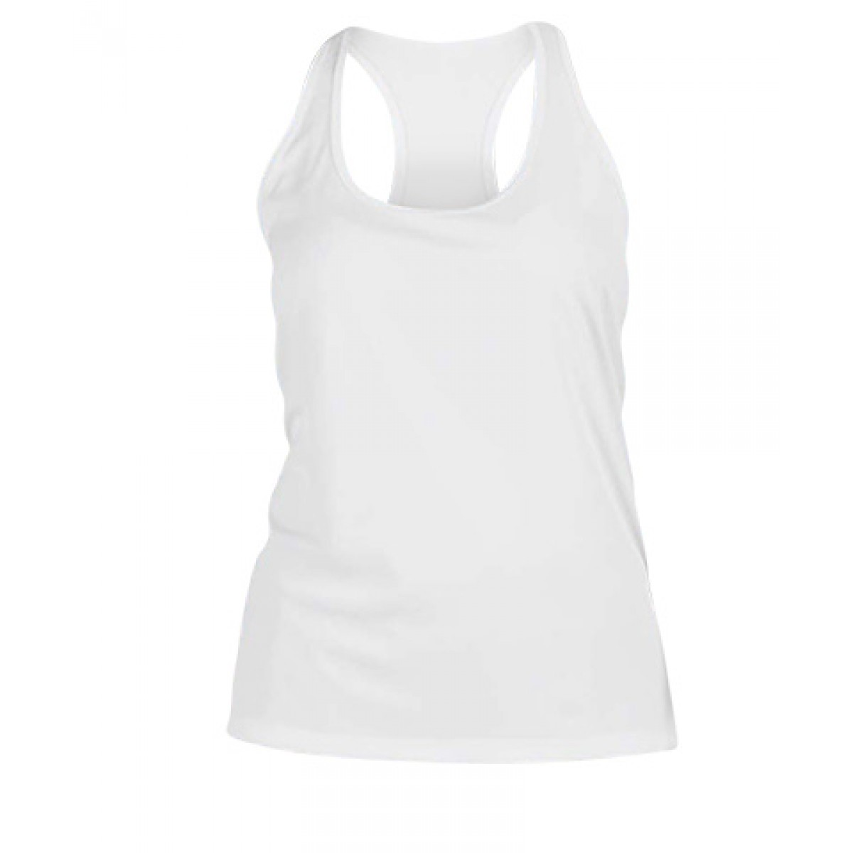 Ladies'  Sport Performance Racerback Tank-White-M