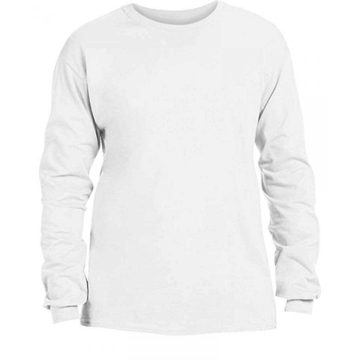 Adidas Long Sleeve T-shirt With Adidas logo-White-M