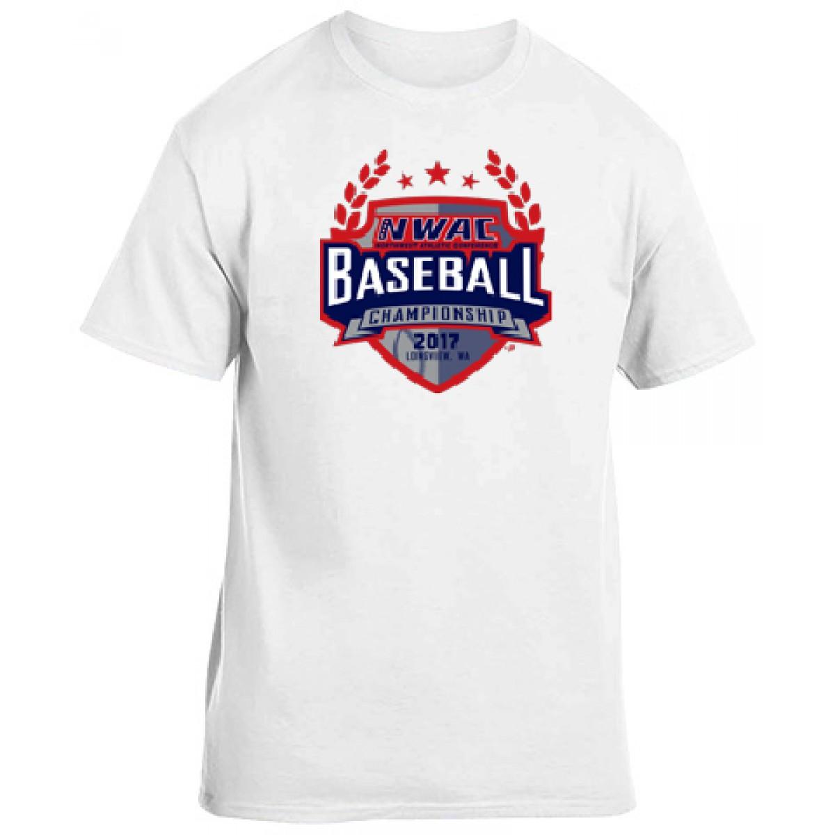 National Guard NWAC Baseball T-shirt-White-YL
