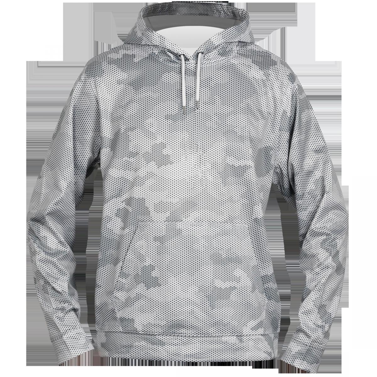 Sport-Tek® Sport-Wick® CamoHex Fleece Hooded Pullover-White-S
