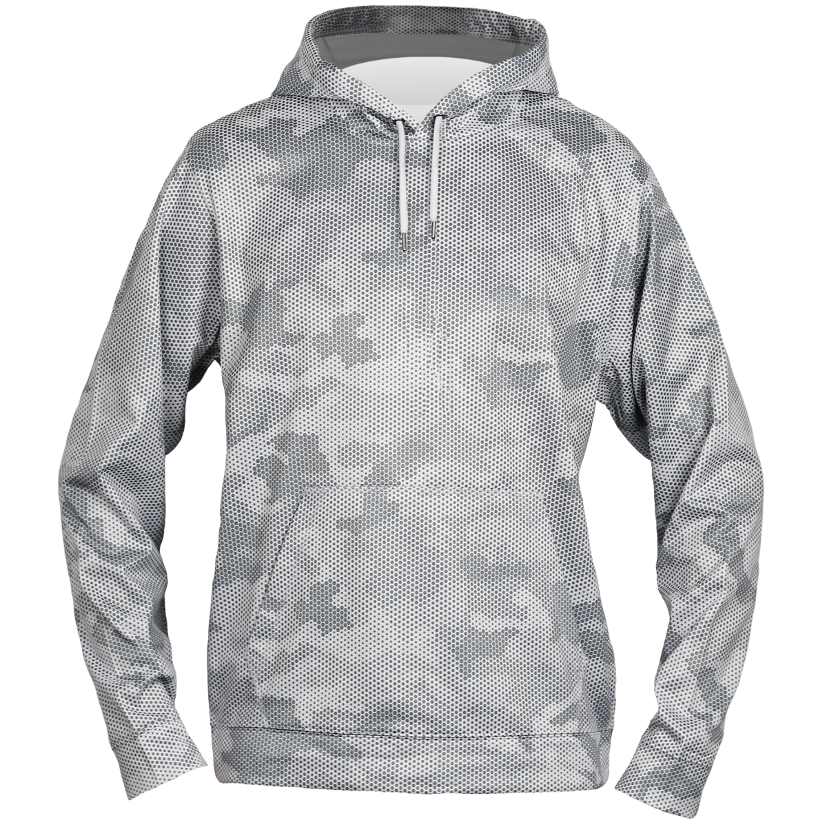 Sport-Tek® Sport-Wick® CamoHex Fleece Hooded Pullover-White-2XL