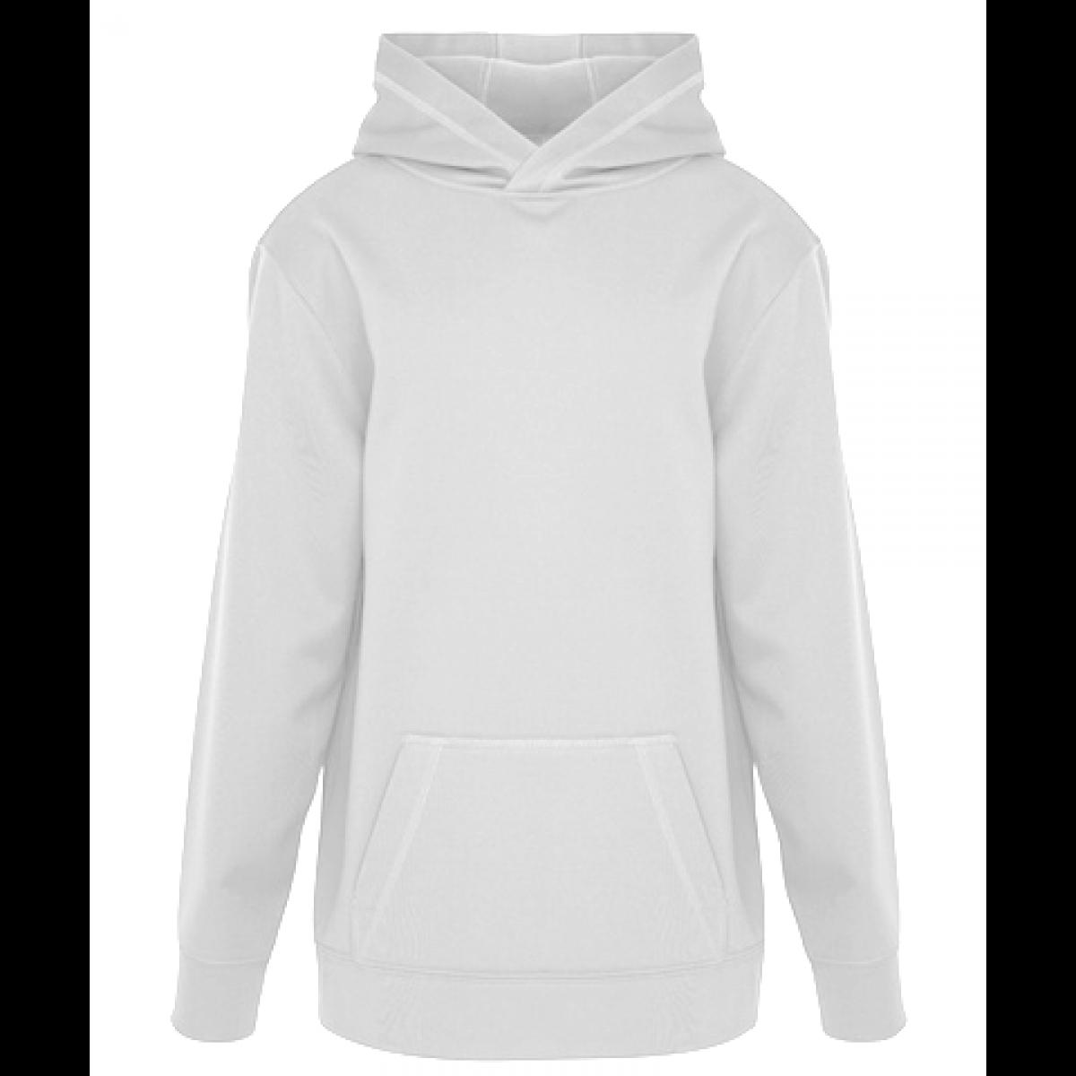 Game Day Fleece Hooded Ladies Sweatshirt-White-XS