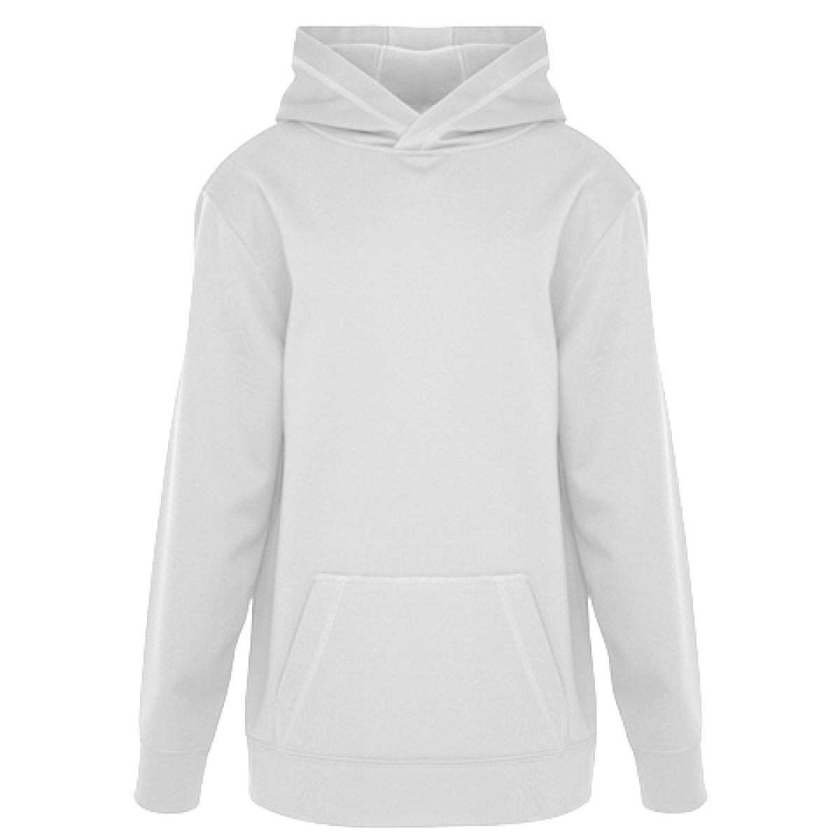 Game Day Fleece Hooded Ladies Sweatshirt-White-L