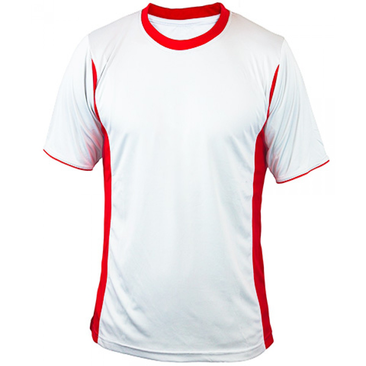 Short Sleeves Performance Fit With Side Insert-Red-L