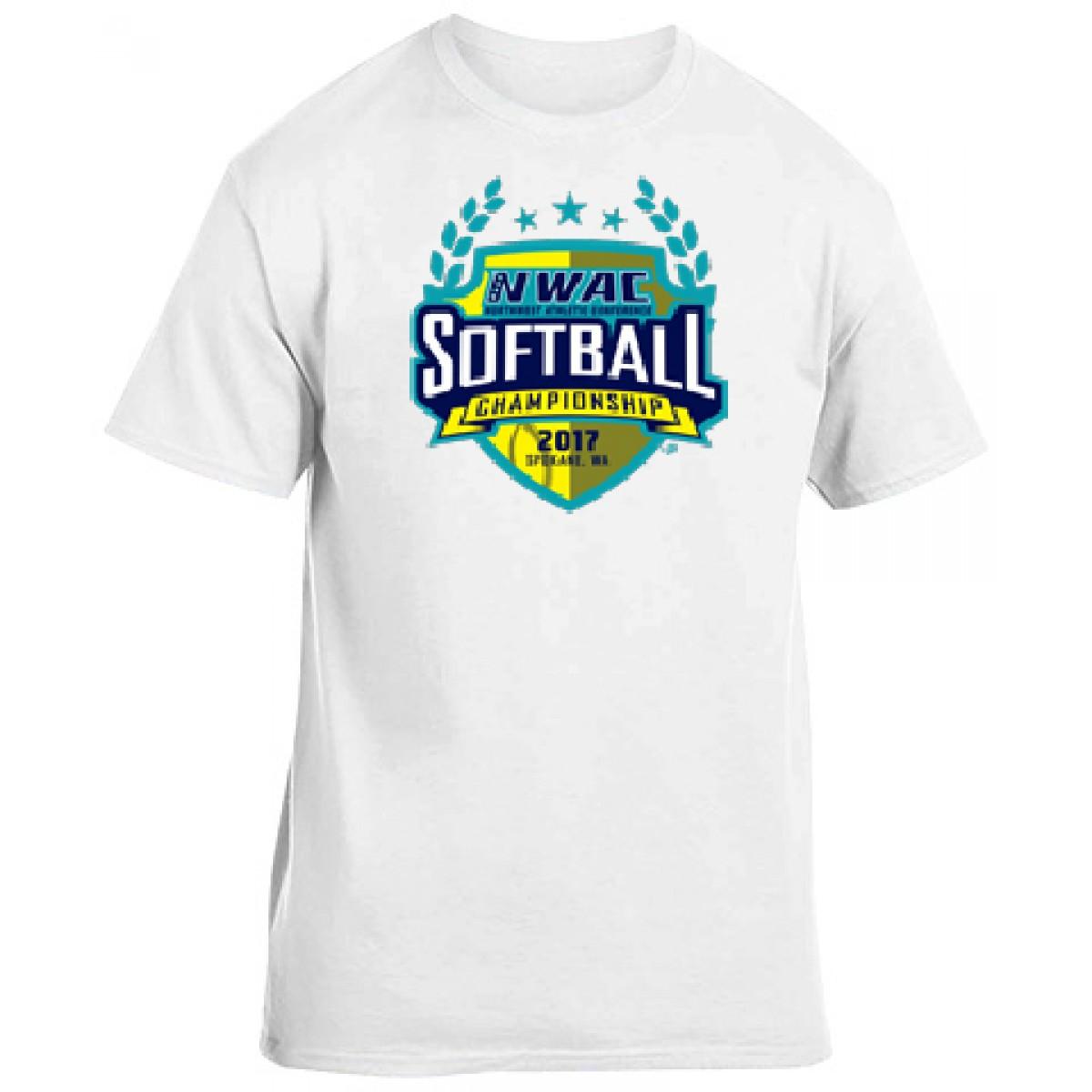 National Guard NWAC Softball T-shirt-White-YL