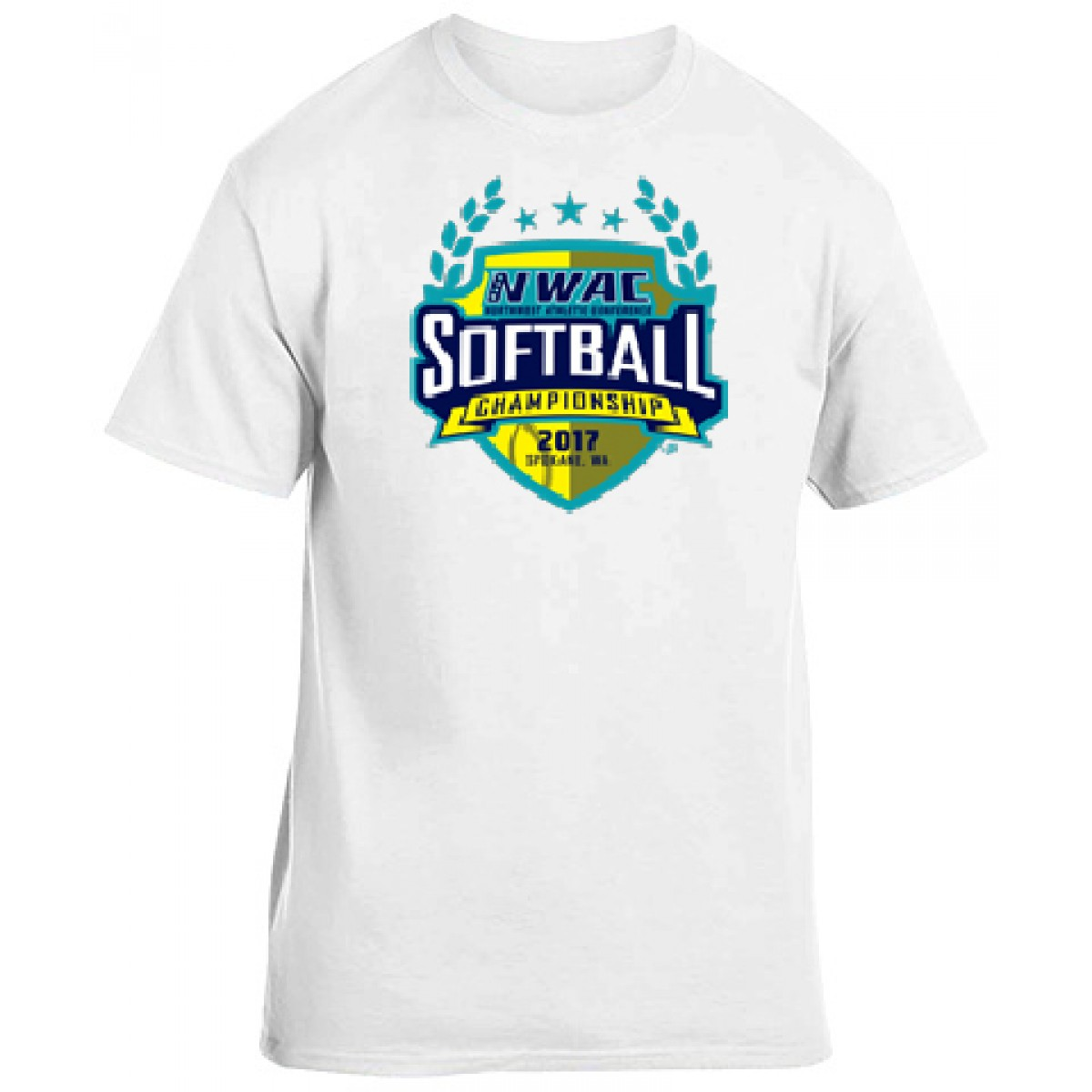National Guard NWAC Softball T-shirt-White-L