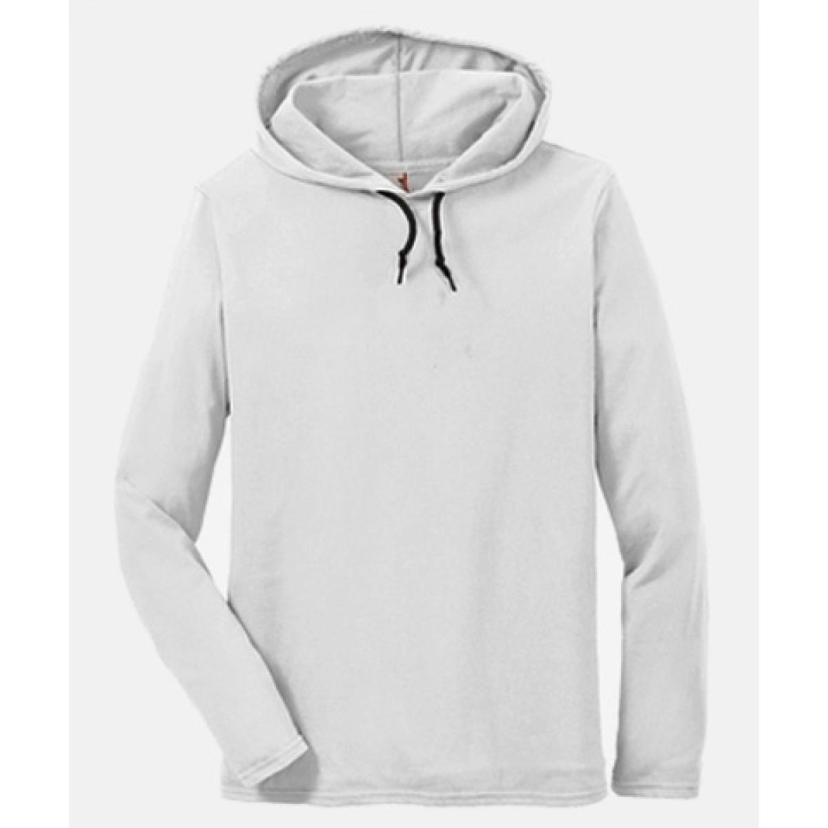 Anvil Cotton Lightweight Hoodie-White-S