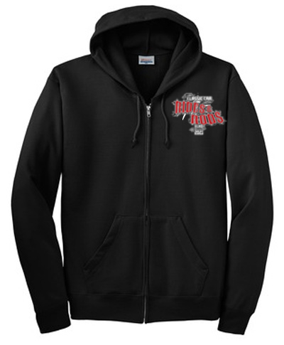 Full Zip Black Hoodie - Black