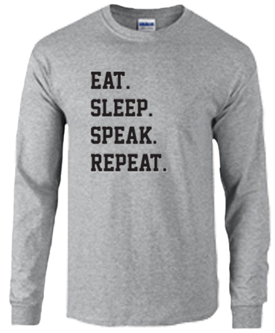 Cotton Long Sleeve T-Shirt / Sport Gray
