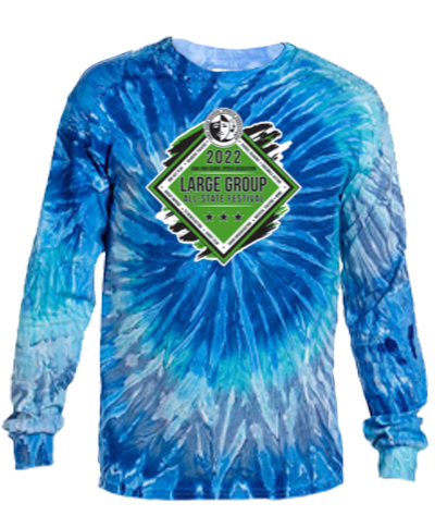 Cotton Long Sleeve T-Shirt / Tie Dye Blue Jerry