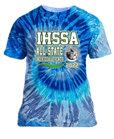 Cotton Short Sleeve T-Shirt / Tie Dye Blue Jerry