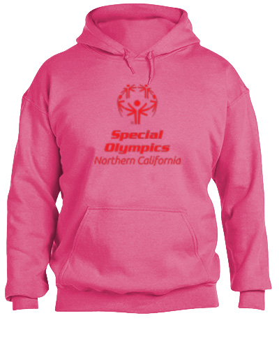 Hooded Sweatshirt 50/50 Heavy Safety Pink