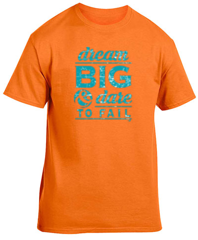 Cotton Short Sleeve T-Shirt Safety Orange